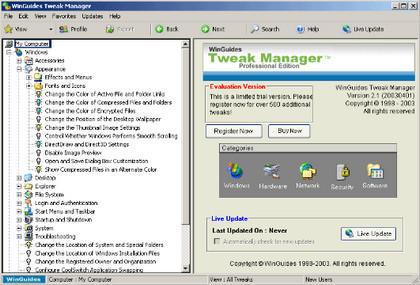 Tweak Manager