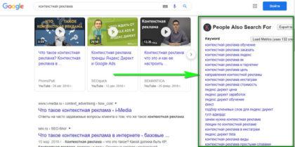 смежная семантика в Гугле